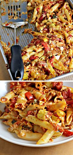 Baked Penne with Roasted Vegetables | Click Pic for 30 Easy Vegetarian Recipes for Kids for Dinner | Quick and Easy Healthy Meals on a Budget