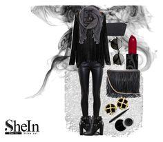 """SheIn"" by naina-hameed ❤ liked on Polyvore featuring Balenciaga, Versace, Valentino, H&M, Isabel Marant, Mary Kay, Sweater, loose and knit"