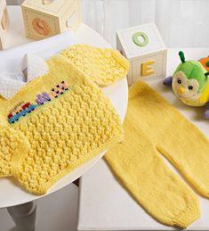 Conjunto Bebê Amarelo – Fio Cisne Bebê Comfort