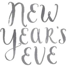 hand lettering: new year's eve