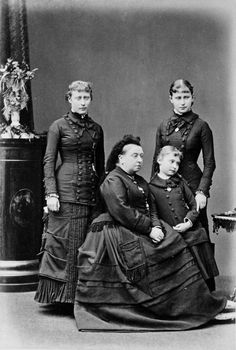 Queen Victoria with grand-daughters Princess Victoria, Princess Alix and Princess Elisabeth of Hesse and by Rhine