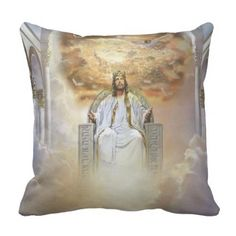 Jesus Is King Throw Pillow  $35.40  by Meglatiod  - cyo customize personalize unique diy idea