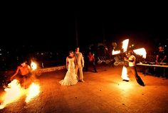 Fire Dancers at Majestic Colonial, Punta Cana | Destination Wedding ideas