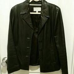 Black Lambskin Leather Jacket