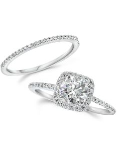 Our impressive custom handmade diamond wedding ring set, from Camellia Jewelry, will take her breath away. Custom handcrafted in the finest details, this unique engagement ring set features a carat round cut n Clean Wedding Rings, Wedding Rings Vintage, Diamond Wedding Rings, Bridal Rings, Vintage Engagement Rings, Halo Diamond, Diamond Rings, Solitaire Rings, Diamond Clarity