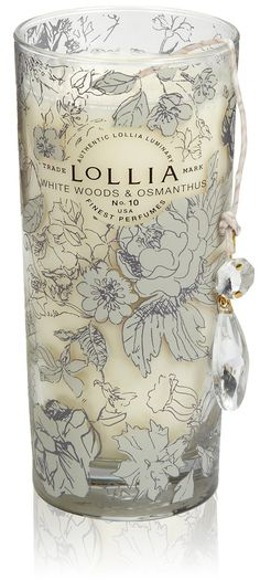 Lollia In Love White Woods & Osmanthus Tall Candle