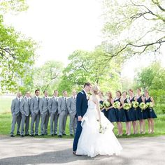 White and Navy and perhaps Gray Grooms Men, we both like this idea