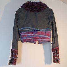 upcycled clothing . denim jacket . inside the storm by pondhopper