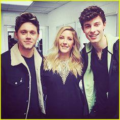 Niall Horan, Ellie Goulding, Shawn Mendes