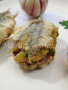 Me sabe a Málaga: Boquerones rellenos Tasty, Yummy Food, Fish And Seafood, Malaga, Food To Make, Pork, Snacks, Diet, Chicken