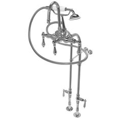 The Free Standing faucet is convenient to all tub owners because the plumbing is external. With shutoff valves included on the external lines, water can be shut off from the faucet at anytime with no hassle. The is a 3 spread that incl