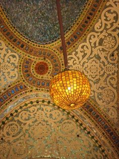Mosaic Ceiling of Marshall Fields on State Street - Chicago, IL 8x10 fine art photograph - affordable home decor. via Etsy.