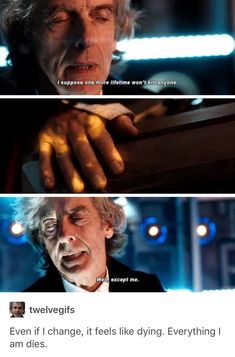I'm going to go cry in a corner now Doctor Who Craft, I Am The Doctor, Twelfth Doctor, 12th Doctor, Peter Capaldi, Torchwood, How To Run Faster, Dr Who, Superwholock