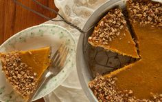 BUTTERNUT SQUASH PECAN PIE: Made with a ground pecan crust, this gluten-free and grain-free dessert bakes up soft and tender while holding its shape when sliced. For best results, chill the pie until cold before cutting. Serve with a dollop of whipped cream or a scoop of ice cream if you like.
