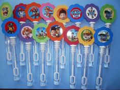 20 Paw Patrol party favor , mini bubble wands, Paw Patrol Birthday favors on Etsy, $13.25