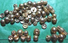 """50+ - 3/8""""+  GOLD TONE METAL LOOK PLASTIC BUTTONS - ASSORTED LOT#706"""