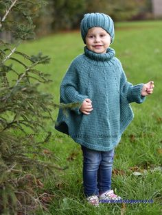 Knitting Pattern – Fascination Poncho and Hat Set (All sizes) – Knitting patterns, knitting designs, knitting for beginners. Poncho Knitting Patterns, Knitted Poncho, Knitting Designs, Knitting Yarn, Knit Patterns, Knitting Projects, Knitted Hats, Baby Poncho, Poncho For Kids