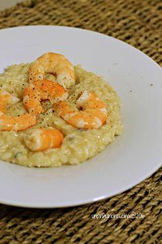 Risotto mit Gorgonzola, Birnen und Shrimps | Un Pinguino in cucina [REZEPT AUCH AUF DEUTSCH!!!]