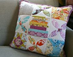 Love all of these colors for a girls room. Central Park fabric by Kate Spain.