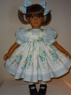 Dress and Matching Bows for 23 inch My Twinn by SewbeitsDollWear