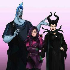One Big Happy Family. Hades Disney, Evil Disney, Disney Fun, Disney Channel Descendants, Disney Descendants 3, Disney Songs, Disney Memes, Disney Marvel, Disney And Dreamworks