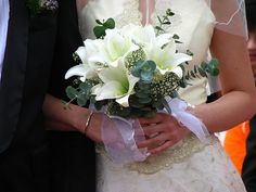 A collection of beautiful wedding bouquets from Your Wedding Company. Our picture gallery and color ideas will help you choose the perfect wedding bouquet. Lily Bouquet Wedding, White Wedding Bouquets, Wedding Flowers, Friend Wedding, Wedding Wishes, Kerala Matrimony, Marathi Matrimony, Christian Matrimony, Perfect Wedding