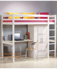 Kids White Loft Bed