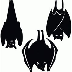 Silhouette Design Store - View Design #50332: hanging bats