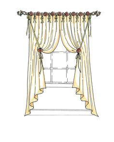 How differnent styles of draperies can improve your home...illustrations included