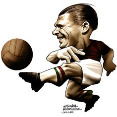 World Cup caricatures on Behance Soccer World, Best Player, Hungary, World Cup, Nostalgia, Cartoon, History, Typo, Conversation