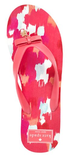 bright pink bow tie flip flops