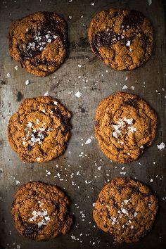 Chewy Dark Chocolate Chunk Cookies With Sea Salt   Slim Palate