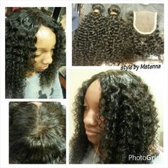 Weave with lace closure African Hairstyles, Weave Hairstyles, Cool Hairstyles, Sew In With Closure, Lace Closure, Full Sew In, Natural Hair Styles, Short Hair Styles, African Braids