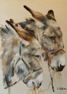 Vero L Watercolor Animals, Watercolor Paintings, Watercolours, Animal Paintings, Animal Drawings, Farm Animals, Cute Animals, Cute Donkey, Equine Art