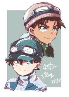 Heiji and Shinichi Heiji Hattori, Magic For Kids, Kaito Kid, Amuro Tooru, Detektif Conan, Kudo Shinichi, Greatest Mysteries, Magic Kaito, Case Closed