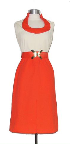Hey, I found this really awesome Etsy listing at https://www.etsy.com/listing/208915979/vintage-70s-orange-and-cream-mod-dress