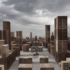matteo mezzadri builds a brick city from urban architectural materials