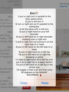 How to do the macerena, according to Erin McDougle