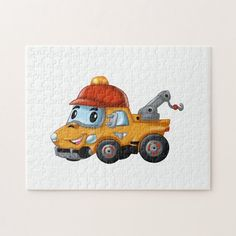 Baby winch truck for kids jigsaw puzzle Jigsaw Puzzles For Kids, Childrens Gifts, Cute Toys, Drawing For Kids, Baby Design, Funny Babies, Cleaning Wipes, Gifts For Kids, Truck