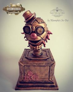 I just love Steampunk and so honoured to part of this amazing collaboration. There's endless inspirations… but I have chosen Jack in the Box – Steampunk Style. Steamed Cake, Jack In The Box, Take The Cake, Cupcake Cookies, Cupcakes, Novelty Cakes, 40th Anniversary, Fancy Cakes, Creative Cakes