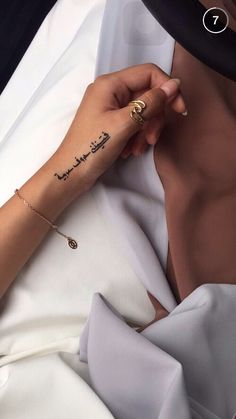 Arabic tattoo is a mysterious design which have their own culture and religious symbolism for the people who wear it. Arabic tattoo become . Dope Tattoos, Mini Tattoos, Body Art Tattoos, Small Tattoos, Sleeve Tattoos, Tattoos For Guys, Tattoos For Women, Tattos, Finger Tattoo For Women