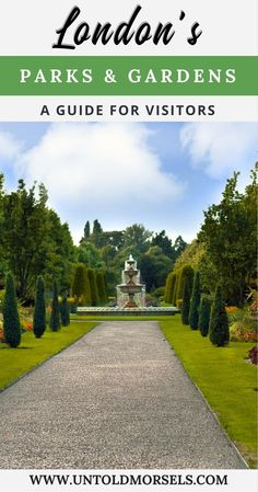 London travel guide - London parks and gardens - take a break from sightseeing and visit London's famous parks and gardens - Hyde Park, Green Park, Regent's Park, Richmond Park, Greenwich Park via @untoldmorsels