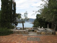 The view from Paddy's magnificent home in Kardamyli