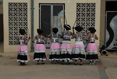 Participants in an annual South African traditional dance festival Xhosa Attire, African Attire, African Inspired Fashion, African Fashion, African Beauty, Black People, Traditional Dresses, Black History, South Africa