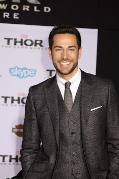 "Zachary Levi - Thor: The Dark World Premiere.... wait, that's Chuck, from""Chuck""!!! yay Chuck!!!!!"