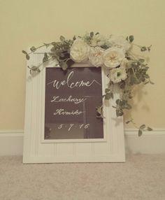 Handmade welcome sign for wedding