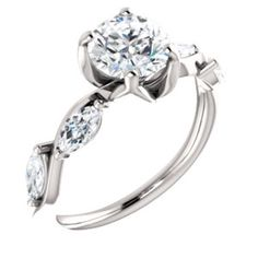 Floral-Inspired Engagement Ring or Band  Style #123376