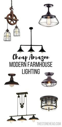 Modern Farmhouse Lighting For Our Fixer Upper Check Out All These Options I Found