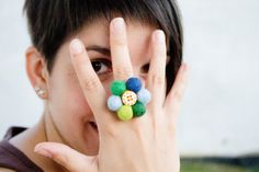 So cute! Flower Ring  Floral Ring  Happy Sunrise Ring by SuddenlyYou