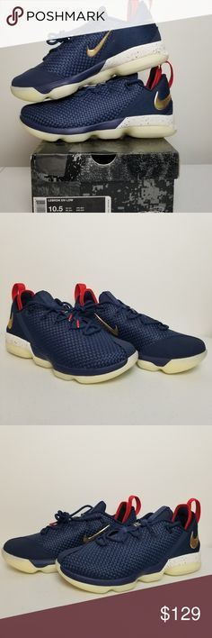 b1f06d6b5df8 Lebron XIV 14 Low Midnight Navy Size 10.5 New with Box Lebron XIV Low Model  -